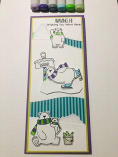 Diy Cards, Christmas Cards, Arctic Polar Bears, Stampin Up, Tedy Bear, Bear Card, Mft Stamps, Card Patterns, Winter Cards