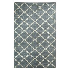 Fancy Trellis Gray Rectangular: 5 Ft. x 8 Ft. Rug