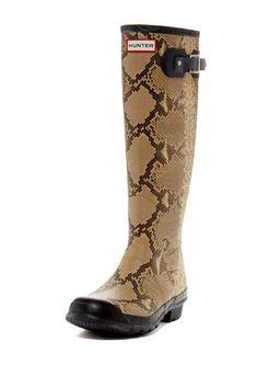Swanky Rain Boots: Carnaby Snake Boot
