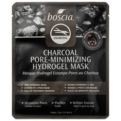 boscia's Charcoal Pore-Minimizing Hydrogel Mask is blended with bamboo charcoal, a natural element with deep-cleansing properties. #Sephora #skincareiQ
