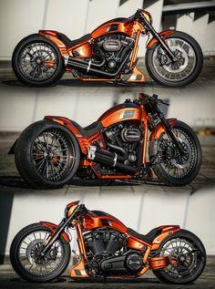"Thunderbike""Black Apple"" customized Harley-Davidson Breakout 2018 #harleydavidsonsoftailbobber #harleydavidsonbobberscaferacers #harleydavidsonbreakoutblack"
