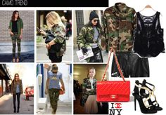 """""""Camo is so trendy."""" by nataliyabodnar ❤ liked on Polyvore"""