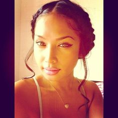 hairstyle > milk maiden braids with side curly fringe updo protective style