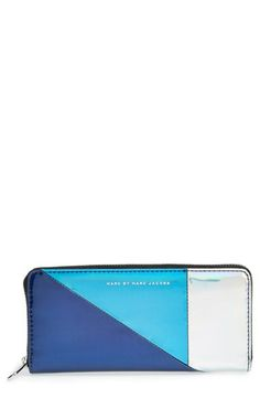 MARC+BY+MARC+JACOBS+'Space+Techno+-+Slim'+Zip+Around+Wallet+available+at+#Nordstrom