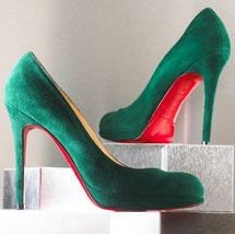 Green Louboutin pumps  I wish I could still wear Hi-heels---I'd wear these