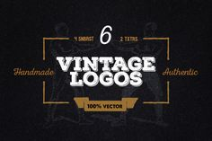 Check out 6 Vintage Logos + other stuff by Pavel Korzhenko on Creative Market