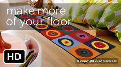 Designer floormat teaser by Kleen-Tex industries - make more of your floor. #kleentex #makemoreofyourfloor #mats