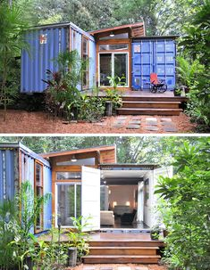 Container House - Tiny houses, petites maisons aménagement espace - Who Else Wants Simple Step-By-Step Plans To Design And Build A Container Home From Scratch? Tiny House Cabin, Tiny House Design, Small House Plans, Tiny Houses, Building A Container Home, Container Cabin, Container House Plans, Container Buildings, Container Home Designs