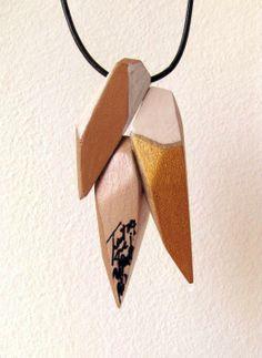 Ioana Avram Necklace pendant jewelery handmade painted with acrylics