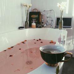 rose water bath #inspired #lovely