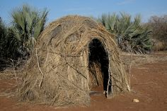 Africa - Namibia / Bushmen by Rudi Roels, via Flickr. Hunter-gatherer home.