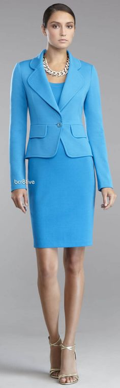 St. John Collection Milano Knit One-Button Jacket & Scoop-Neck Dress