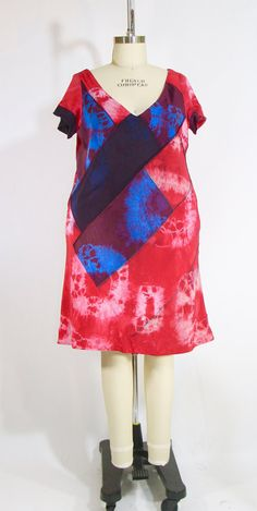 Plus Size 4 Ply Silk Patchwork Tie Dyed Bias by vintagebycassandra