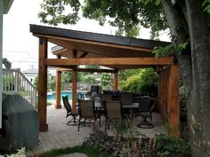 Gazebo Modern Design and Realization Pur Patio. This gazebo was made … Patio Diy, Outdoor Gazebos, Building A Pergola, Backyard Gazebo, Garden Gazebo, Pergola Canopy, Backyard Garden Design, Pergola Patio, Patio Design