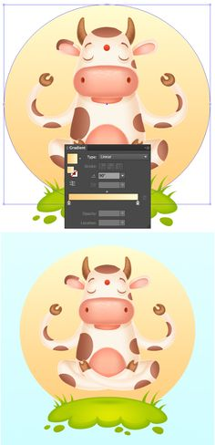 How to Create a Meditating Cartoon Cow in Adobe Illustrator