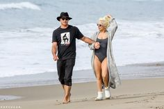 Photo of Lady Gaga and Taylor Kinney Have a Lovely Beach Day After the Globes Celebrity Gossip, Celebrity News, Male Model Names, Male Models, Taylor Kinney Chicago Fire, Lady Gaga Pictures, Star Wars, Hooray For Hollywood, Beach Day