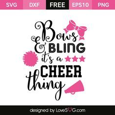 *** FREE SVG CUT FILE for Cricut, Silhouette and more *** Cheer Thing