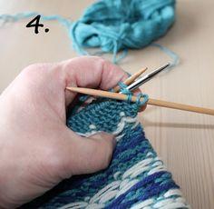 Hvordan strikke sammen istedet for å sy; en step by step forklaring;