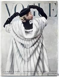 Image result for vogue magazine 1950