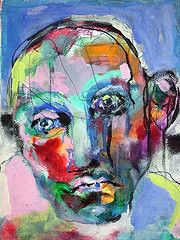I love abstract faces with random uses of color