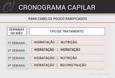 CRONOGRAMA CAPILAR CABELOS POUCO DANIFICADOS