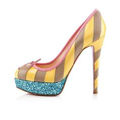 Do You Want To Enjoy High Quality Of Christian Louboutin Foraine 140mm Platforms Yellow/Stone? Come Here! CL