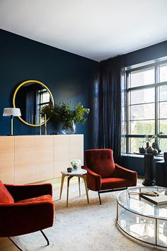 Темные тона и элегантные детали: стильная квартира на Манхеттене | Пуфик - блог о дизайне интерьера