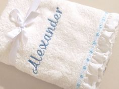 Personalized Christening Towel Baptism Towel Boy Girl Embroidered Large Bath Towel Cotton Absorbent White Towel Orthodox Baptism by VirgoCottonLinen on Etsy