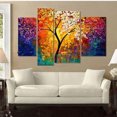 Hand Paint Oil Painting On Canvas Modern Abstract Tree in Blossom Wall Art cl8u #UnbrandGeneric #Abstract Large Canvas, Buy Canvas, Aliexpress Mobile, Oil Paintings, Oil Painting Abstract, Abstract Art, Image Soleil, Abstract Pictures, Canvas Wall Art