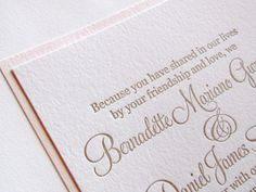 Etsy Wedding Invitation - Love the wording