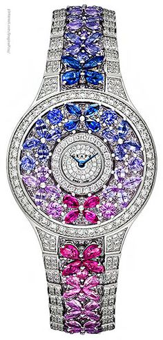Diamond Watches Ideas : Graff butterfly motif diamond watch - Watches Topia - Watches: Best Lists, Trends & the Latest Styles High Jewelry, Jewelry Accessories, Luxury Jewelry, Jewelry Stores, Ring Armband, Saphir Rose, Patek Philippe, Beautiful Watches, Schmuck Design