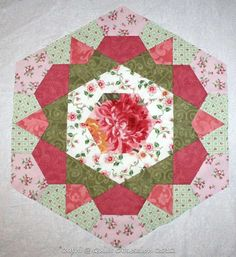 Cute rose star made into a hexi.