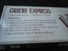 Orient Express Game.