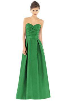 Green dress. Bridesmaid dress.