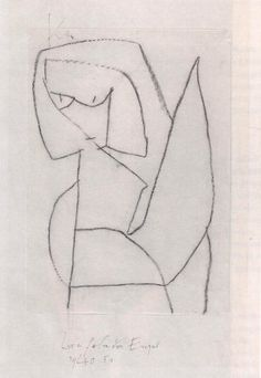 Paul Klee ~ zweifelnder Engel ~ 1939