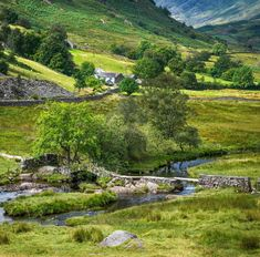 Little Langdale in the Lake District. The Slater's Bridge crosses the River Brathay on a former packhorse route through the beautiful countryside. Yorkshire England, Yorkshire Dales, Lake District, Literary Travel, English Countryside, Cumbria, British Isles, London England, Great Britain