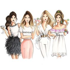 ideas for fashion art illustration sisters Bff Pics, Photos Bff, Friend Pictures, Illustration Mode, Fashion Illustration Sketches, Fashion Sketches, Best Friend Drawings, Bff Drawings, Mode Poster