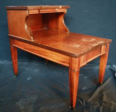 Vintage Wood Side Two Tiered End Table by ScrantonAttic on Etsy, $174.99