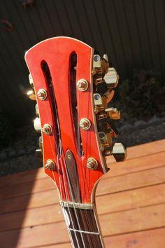 HiTone 12-string guitar headstock Guitar Room, Music Guitar, Cool Guitar, Playing Guitar, Violin, Unique Guitars, Custom Guitars, 12 String Guitar, Mandoline