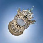 Rathaus Innenhof · 90 x 90 cm · Leinwand auf Keilrahmen: € 640,- ·  Aludibond: € 780,- ·  Acrylglas auf Aludibond: € 940,-  · © Stefan Korff