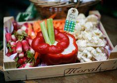Idée présentation de sauce avec légume | Un beau jour : Julia & Philippe
