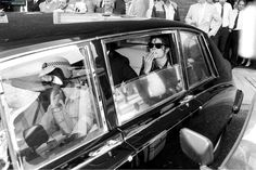Michael Jackson in the limousine