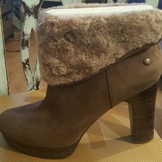 UGG FUR BOOTS.. W DANDYLION UGG FUR BOOTS..W DANDYLION  SIZE 12 EXCELLENT CONDITION UGG Shoes Ankle Boots & Booties