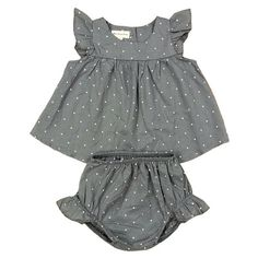 Gray Polka Dot Set