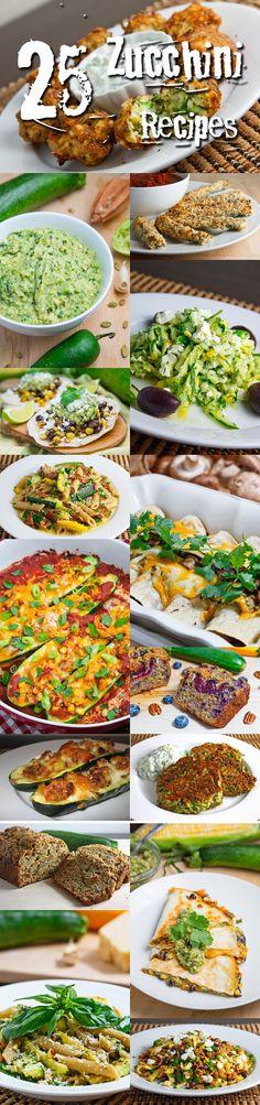 25 Zucchini Recipes Drool worthy- right??