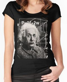 aca3e357ab Albert Einstein Women s Fitted Scoop T-Shirt Albert Einstein