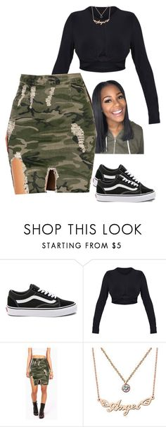"""""""its been a while"""" by frenchmamii ❤ liked on Polyvore featuring Vans and Nanazi Jewelry"""