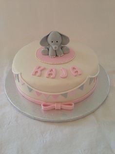 Christening elephant cake girl Elephant Cakes, Girl Cakes, Hobby, Christening, Desserts, Food, Tailgate Desserts, Deserts, Essen