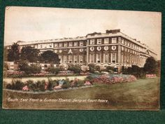 Antique Coloured Postcard South East Front Summer Flowers Hampton Court Palace