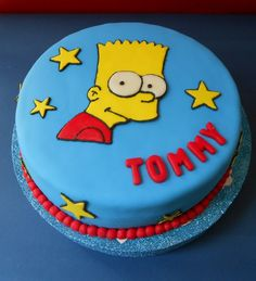Bart Simpson Cake by Violeta Glace